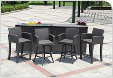 Patio Bar Möbel Mobel Modern Outdoor Furniture Sets
