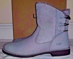 02fed553c5 Womens Ugg Australia Gray Naiyah Suede Boots Size 11  UGGAustralia   SnowWinterBoots  Casual Suede