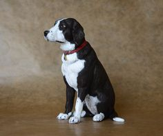 Holly, short-haired Border Collie by Harriet Knibbs Sculptures Ltd