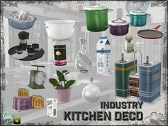 Sims 4 CC's - The Best: Kitchen Industry Decoration by BuffSumm