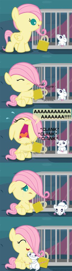 fluttershy trying to...... i dunno