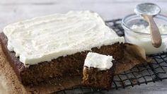 Moist carrot cake with coconut orange cream