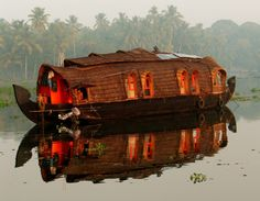 Boat house boat light.    Would love to have one of these. A house at the edge of the jungle ;)