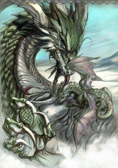 Mother Dragon and Baby