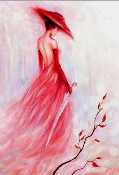 Plum Girl DIY Paint By Diamond Kit is part of Painting Description Diamond Paintings let you create beautiful mosaics without needing to be an artist Pick your canvas up and you& basically - Diy Painting, Painting & Drawing, Dress Painting, Oeuvre D'art, Painting Inspiration, Amazing Art, Awesome, Lady In Red, Pink Lady