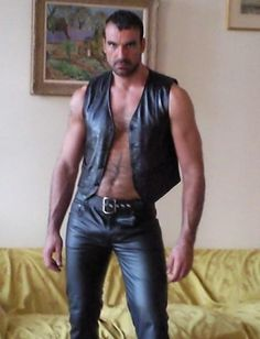Leather Rubber Muscle Tattoos Cigars & Beards