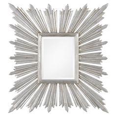 Different take on the usual round starburst design. Sunburst Mirror Silver Leaf MI20195DSL