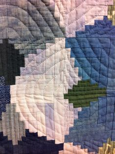 Detail of pineapple logcabin - A Quilter by Night: Tokyo Quilt Festival 2013