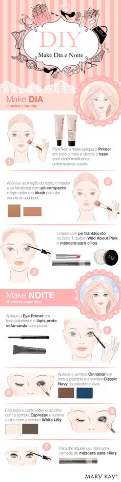 (DIY): Faça o perfeito para o dia a dia se transformar naquele make lindo pra noite! Beauty Make Up, Beauty Care, Beauty Hacks, Beauty Tips, Makeup Videos, Makeup Tips, Eye Makeup, Make You Up, How To Make Hair