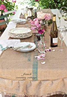 FRENCH COUNTRY COTTAGE~ rustic table runner