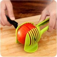 1pc Tomato Holder Slicer Guide Potato Onion Cutter Fruit Vegetable Orange Shredders Slicers