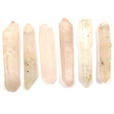 Tibetan Pink Quartz Points 6 Crystals 24mm - 29mm x 5mm - 6mm Raw,... (26 RON) ❤ liked on Polyvore featuring fillers, other, misc, extras, accessories, backgrounds, quotes, text, phrase and saying