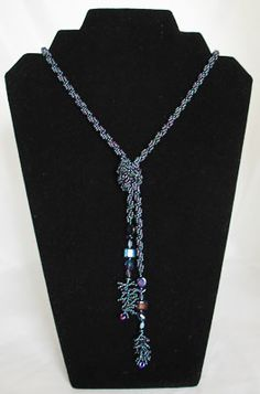 long lariat necklace | Purple jade and amethyst long lariat cord necklace crn043 cord