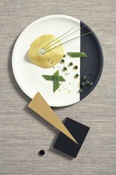 Nicky&Max han pensado en la estética de la Bauhaus para fotografiar alimentos y convertirlos en obras de arte.