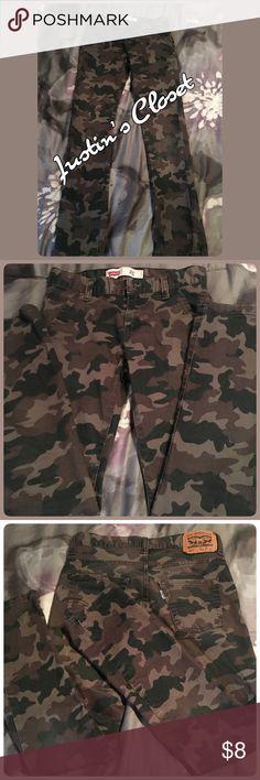 Boys Camouflaged Levi's Boys Camouflaged Levi's Jeans Levi's Bottoms Jeans