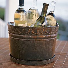 I still love all of my Southern Living at Home - especially this Entertaining Bucket! Childrens Christmas, Christmas Books, Drink Bucket, Willow House, Southern Living Homes, Drip Tray, Easy Entertaining, French Country Cottage, Wine Parties
