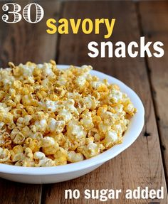 It's hard to know what to eat when you're doing a sugar detox. These 30 savory snack recipes will keep you full without any added sugar. Perfect for New Year's resolutions! Diabetic Snacks, Diabetic Recipes, Real Food Recipes, Cooking Recipes, Healthy Recipes, Weeknight Recipes, Clean Recipes, Free Recipes, Savory Snacks