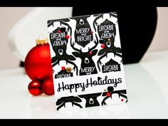 12 Days of Christmas video tutorial Happy Holidays Reindeer Card by Yana Smakula