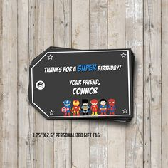 Superhero birthday PARTY PACKAGE personalized for your party - digital / printable DIY superhero invitation, card, tag, toppers, & banner Geheimagenten Party, Party Ideas, Superhero Birthday Party, Boy Birthday, Captain America Birthday, Personalized Tags, Thank You Tags, Animal Welfare, For Your Party
