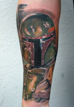Boba Fett tattoo on forearm by ~graynd