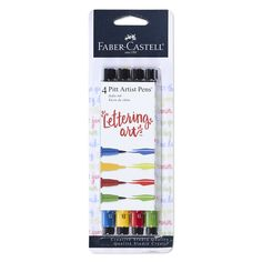 These unique, odorless and versatile brush pens in primary tones allow you to create thick or thin brush strokes from 1 to 5mm. Perfect for brush lettering, stamping, and mixed media projects. India inks are waterproof, lightfast, acid-free and pH neutral, so your artwork stays bright and vibrant for many years to come. Store horizontally when not in use. Creative Lettering, Brush Lettering, Hand Lettering, Faber Castell Pitt, Brush Pen, Brush Strokes, Pitt Artist Pens, India Ink, Letter Set