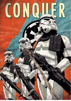 Star Wars propaganda poster art