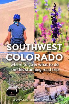 Where to go on a Southwest Colorado Road Trip – Rad Family Travel – Typical Miracle Colorado Springs, Ouray Colorado, Colorado Hiking, Denver, Travel With Kids, Family Travel, Family Vacations, Road Trip To Colorado, Amigurumi