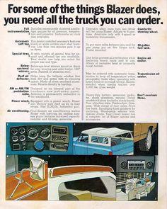 1973 blazer upgradeable options advertisement  #c10 #c20 #c30 #k5 #k10 #k20 #k30 #chevrolet #chevytrucks #chevy #gmc  #squarebody #squarebodybrothers #suburban #superwagon #burban #blazer #jimmy #k5 #k5blazer #fullsizeblazer #silveraldo #sierra #customdeluxe #scottsdale #cheyenne #cheyennesuper #sierragrande #highsierra #sierraclassic  #savethesquares