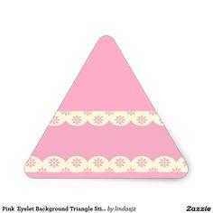 Pink  Eyelet Background Triangle Sticker