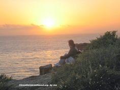 Breathe In...Breathe Out... - My friend gazing out into the sunset...ahhh