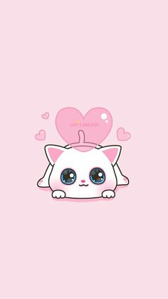 animals, art, baby cat, background, beautiful, beauty, cartoon, cat, colorful, cute baby, cute cat, drawing, hearts, illustration, iphone, kawaii, kitty, pastel, pretty, wallpaper, wallpapers, we heart it, pink background, art cat, beautiful art, pastel a