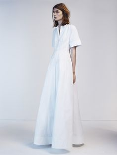 Vogue UK Issue: April 2012  Title: The White Album  Model: Lara Mullen  Photography: Josh Olins  Styling: Lucinda Chambers