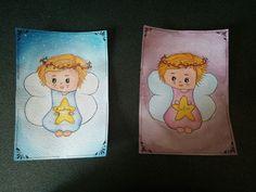 Cartoline dipinte a mano con acquarello per battesimo. #battesimo #acquarello #china