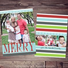 Gold & Mint Chevron Christmas Card, customized and printed for you ...