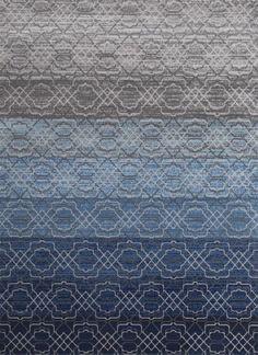 Blue Moroccan Trellis Toscana Discount Area Rugs Bedroom Living Room - Bargain Area Rugs