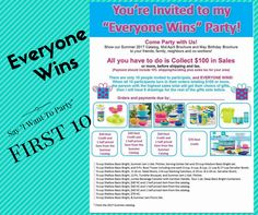 "Say ""I Want to Party""  Open to the first 10 that say ""Yes""  Super easy to get FREE Tupperware!!  All you have to do is Collect $100 in Sales!!!  Comment below ""Yes""   Link Mid-April Catalog: http://catalog.tupperware.com/2017/brochure/april/ Link May Birthday Catalog: http://catalog.tupperware.com/2017/brochure/birthday/ Link Summer Catalog: http://catalog.tupperware.com/2017/catalog/summer/  Shop My Tupperware Website: www.kalynn.my.tupperware.com  #tupperwarewithkay Twitter…"