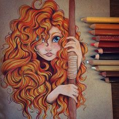 Imagem de art, disney, and drawing Disney Pixar, Disney Fan Art, Disney Animation, Disney And Dreamworks, Disney Love, Brave Disney, Merida Disney, Brave Pixar, Disney Frozen