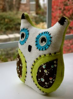 Sweet Cream Plush Owl Doll