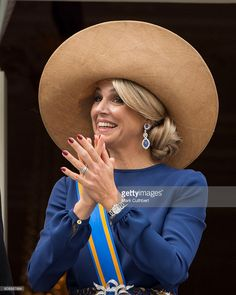 Queen Maxima of the Netherlands on the balcony of The Noordeinde Palace during Princes Day on September 20, 2016 in The Hague, Netherlands.
