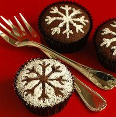 snowflake muffins