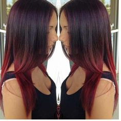 #red #ombre