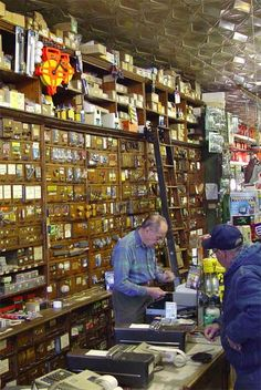 Could be the old Howland Hardware Store in my town....same shelves, same counter, same ladder!