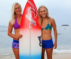 Actor Anna-sophia Rob with Bethany Hamilton