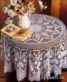 from liveinternet.ru - I have made this from either a Magic Crochet or Decorative Crochet magazine - my pic of my version will be here soon.