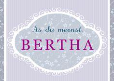 plattdeutsche postkarte,bertha