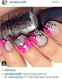 Short nail art from Instagram by _nailsbyjacky