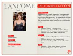 The details behind look by Makeup artist Mary Phillips Dakota Johnson, Feeling Happy, Lancome, Compliments, Red Carpet, Skin Care, Makeup, Face, Inspiration