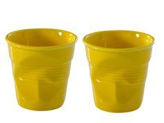 Revol Froisses Crinkled Porcelain Cups