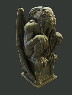 "Model based on the artifact described in ""The Call of Cthulhu"" by H.P. Lovecraft."