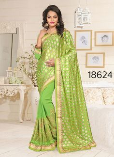 Indian Pakistani Designer Saree Ethnic Dress Partywear Wedding Bollywood Sari #TanishiFashion #DesignerSaree